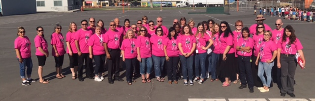 Shackelford Staff Goes Pink
